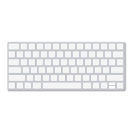 Top view of keyboard Isolated on white background, vector illustration Vektoros illusztráció