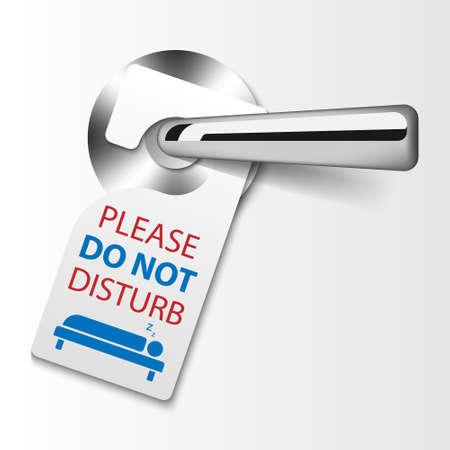Door hanger tags, do not disturb sign, vector illustration