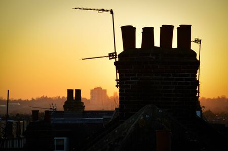 Earlsfield Sunset, London Stok Fotoğraf