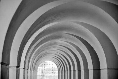 archways: arched entrance in Black and White