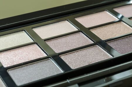 Close up eye shadow palette