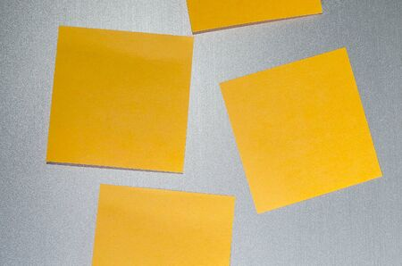 metalic background: Note  paper on metalic background