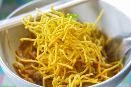soi: Food in the North of Thailand called Khao Soi.