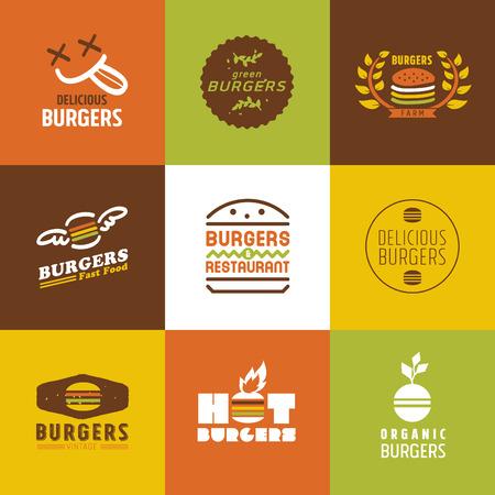 Fastfood-Restaurant Vektor-Logos und Icons, Grafik Design Editierbare Für Ihr Design Standard-Bild - 37155079