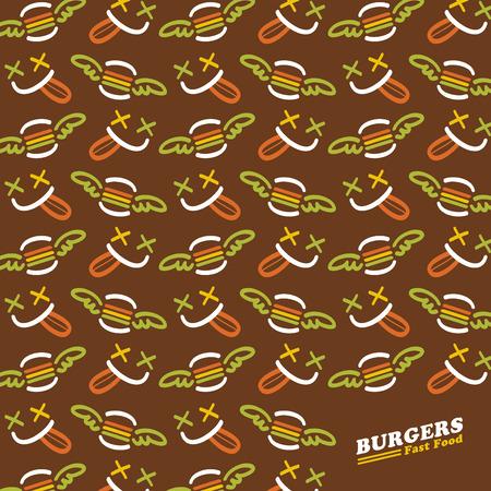 vectorrn: fast food restaurant vector pattern