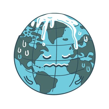 Global warming cartoon vector