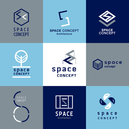 architecture logo: space concept architecture logo vector Illustration