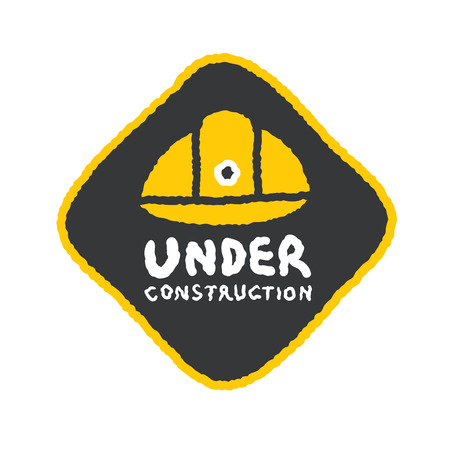 Cartoon Construction Signs Under Construction Sign in