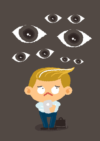 under control: big brother concept, internet security and safety, vector Illustration