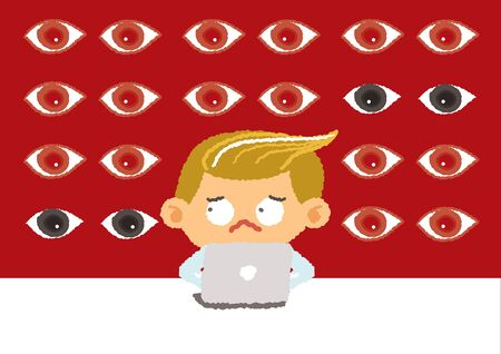 big brother: big brother concept, internet security and safety, vector Illustration