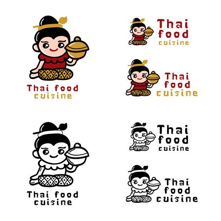 thai style: Thai food logo concept Vector