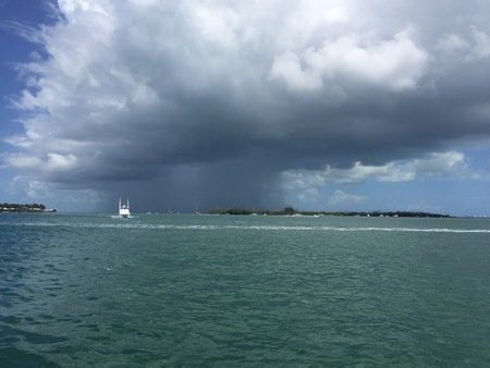 storm clouds and rain over Key West Banque d'images