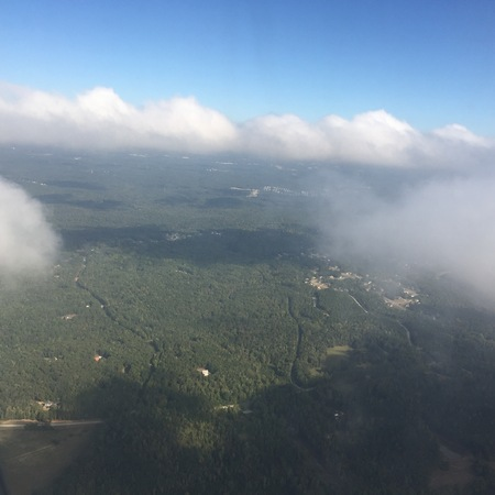 great smokies: Aerial View of Chattahoochee Hill Country before a storm Stock Photo