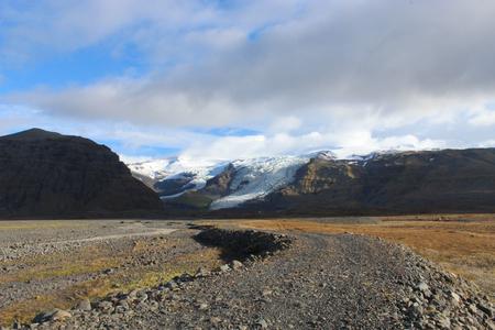 Skeidararsandur glacier in Iceland on an autumn day