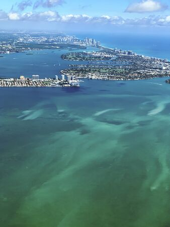 tropical aerial view of Florida 스톡 콘텐츠