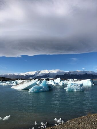 glacier melting in the north pole Stock Photo