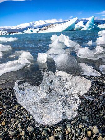 glacier melting in the north pole Banque d'images