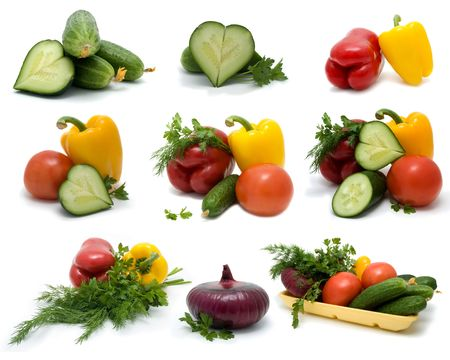 Fresh vegetable on a white background