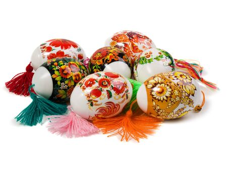 A collection of colorful Easter eggs.