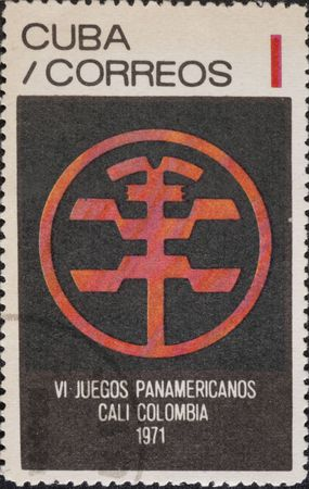 Vintage stamp devoted  Pan American Games in Cali, Colombia, July 30 - August 13, 1971 photo