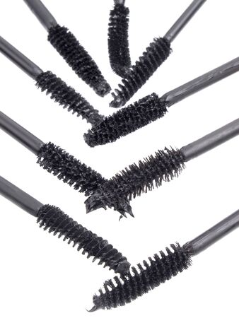 brushes for a mascara  on a white background