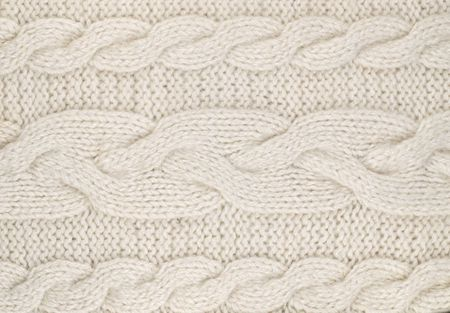 dense mats: White  knitted with a pattern textured background