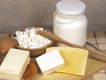 Dairy product on a cook-table photo