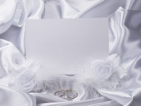 Silver wedding rings on a card Stock Photo - 6817684