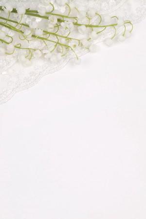 Buket der Lilien Of The Tal auf eine wei�e Karte f�r text Lizenzfreie Bilder