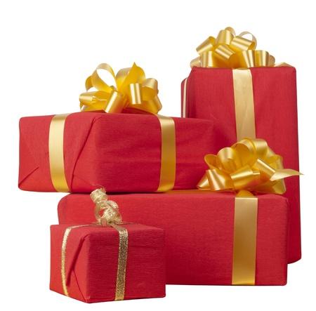 viele red Gift boxes  Lizenzfreie Bilder