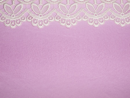Pink background with finishing by a lace photo