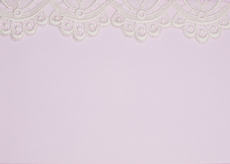 Pink background with finishing by a lace
