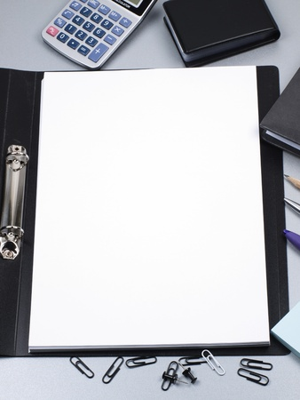 Folder, paper, office tools Stock Photo - 8821890
