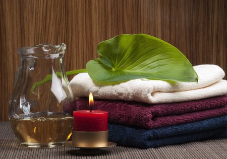 conflagrant: Convolute towels and conflagrant candle