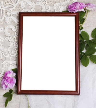 Frame for  pictures with flowers Stock Photo - 9770368