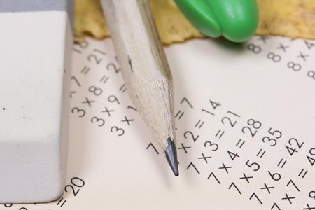 multiplicaci�n: las tablas de multiplicar y �tiles escolares