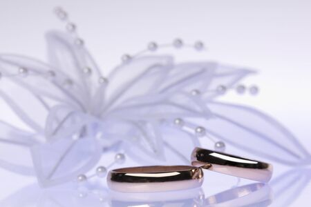 Weddings accessorie and rings photo