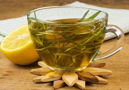 Herbal tea on the kitchen table