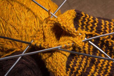 knitting yarn and knitting needles Stock Photo - 12634310