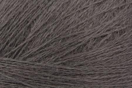 Graue Wolle Kn�uel Nahaufnahme