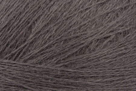Grey wool yarn skein of close-up  Stock Photo