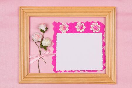 Beautiful art background  with scrapbooking elements photo