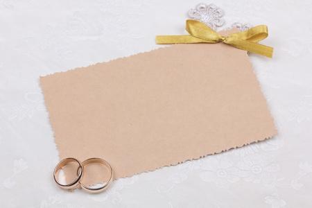 Beautiful art background  with  wedding rings photo