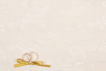 Beautiful art background  with wedding rings photo