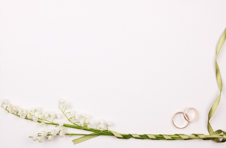 Art background  and lily of the valley Stock Photo