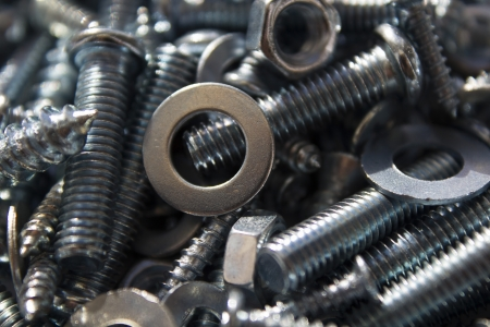 assortment of bolts and screws photo