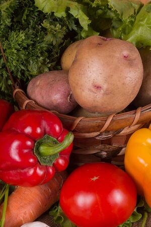 Fresh vegetables gathered from the garden Stock Photo - 15756943