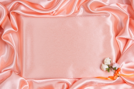 Wedding background of peach silk