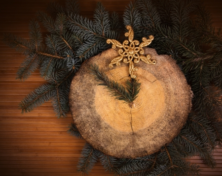 pine needles close up: Five minutes before Christmas  Concept