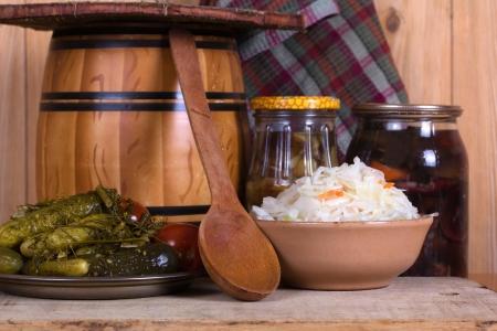 Sauerkraut auf den Tisch hausgemacht